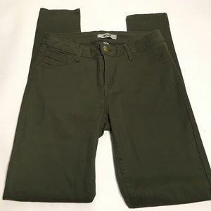 Refuge Twill Olive Skinny Jeans Size 4